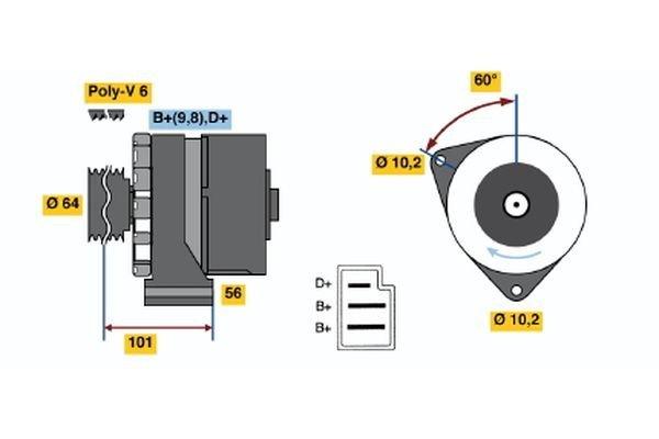 Generator BOSCH 0 986 034 050