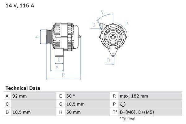 Generator BOSCH 0 986 037 990