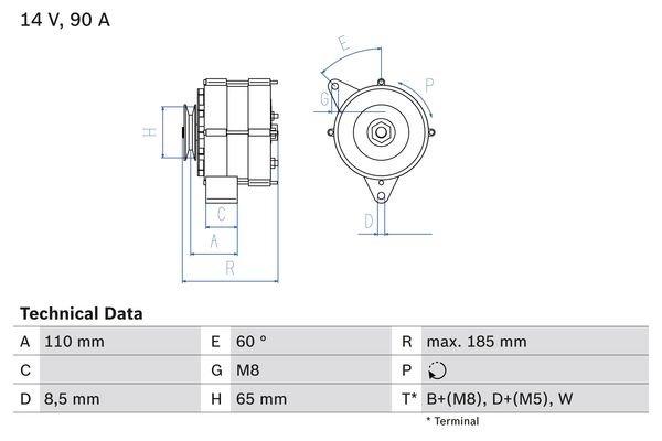 Generator BOSCH 0 986 039 090