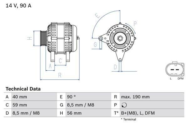 Generator BOSCH 0 986 041 490