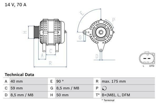 Generator BOSCH 0 986 041 910
