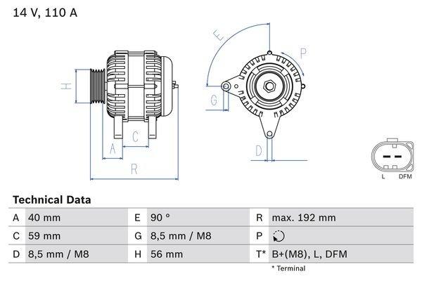 Generator BOSCH 0 986 045 390