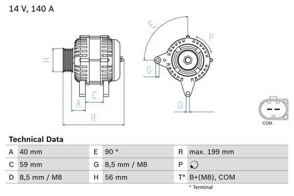 Generator BOSCH 0 986 081 160