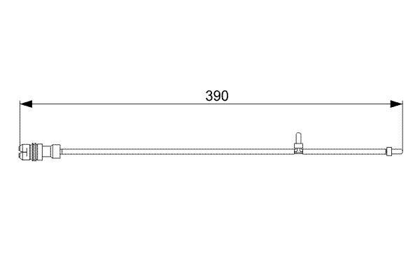 Warnkontakt, Bremsbelagverschleiß BOSCH 1 987 473 041