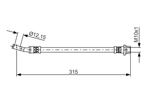 Bremsschlauch BOSCH 1 987 481 526