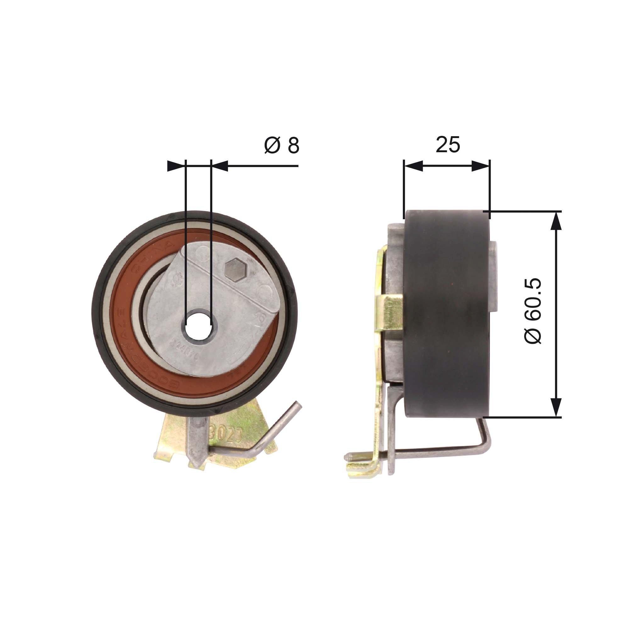 Spannrolle, Zahnriemen GATES T43023