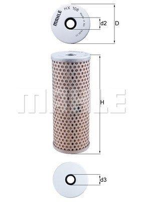 Hydraulikfilter, Lenkung KNECHT HX 108