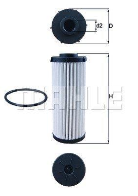 Hydraulikfilter Automatikgetriebe für Automatikgetriebe KNECHT HX 81D
