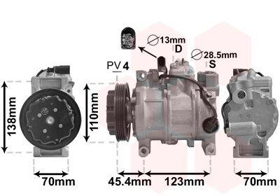 Kompressor, Klimaanlage VAN WEZEL 0300K261