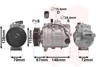 Kompressor, Klimaanlage VAN WEZEL 0301K701