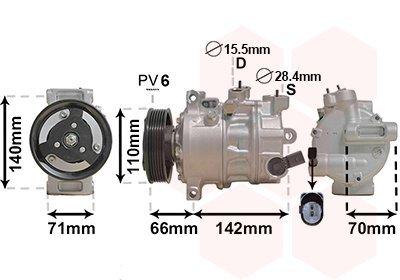 Kompressor, Klimaanlage VAN WEZEL 0301K703