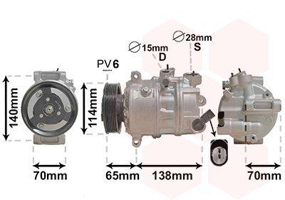 Kompressor, Klimaanlage VAN WEZEL 0301K709