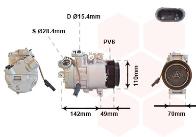 Kompressor, Klimaanlage VAN WEZEL 0600K411