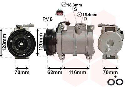 Kompressor, Klimaanlage VAN WEZEL 0700K109