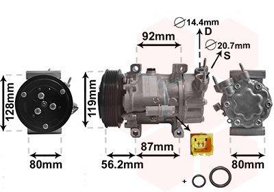 Kompressor, Klimaanlage VAN WEZEL 0900K214