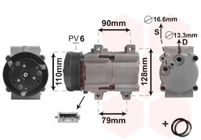 Kompressor, Klimaanlage VAN WEZEL 1800K284