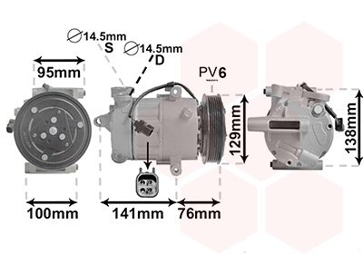 Kompressor, Klimaanlage VAN WEZEL 1800K417
