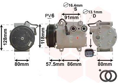 Kompressor, Klimaanlage VAN WEZEL 1800K451