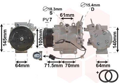 Kompressor, Klimaanlage VAN WEZEL 2500K235