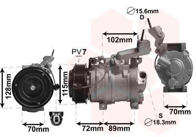 Kompressor, Klimaanlage VAN WEZEL 2500K270