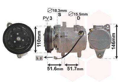 Kompressor, Klimaanlage VAN WEZEL 2901K157