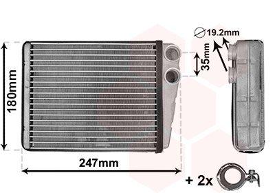Wärmetauscher, Innenraumheizung VAN WEZEL 30006673