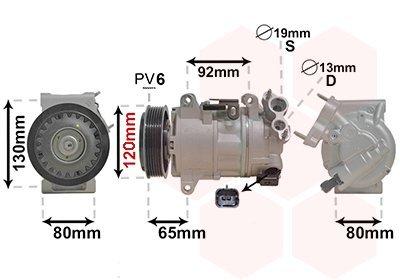 Kompressor, Klimaanlage VAN WEZEL 4001K704