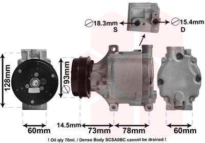 Kompressor, Klimaanlage VAN WEZEL 5100K099