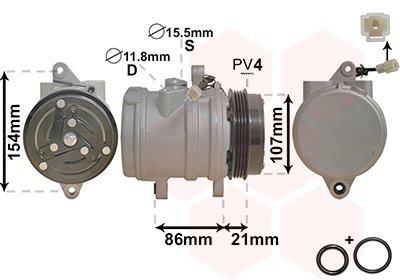 Kompressor, Klimaanlage VAN WEZEL 8100K079