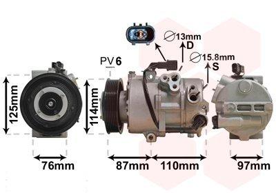 Kompressor, Klimaanlage VAN WEZEL 8200K301