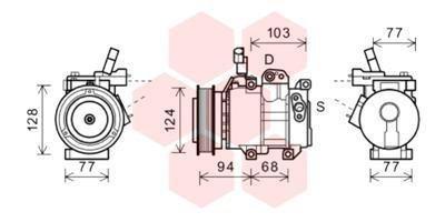 Kompressor, Klimaanlage VAN WEZEL 8200K318