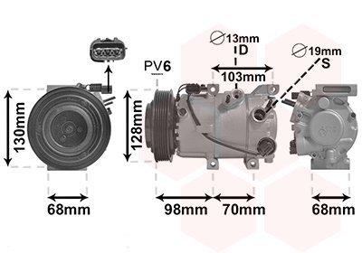 Kompressor, Klimaanlage VAN WEZEL 8201K707
