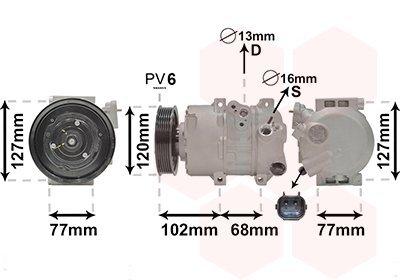Kompressor, Klimaanlage VAN WEZEL 8201K713