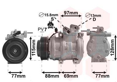 Kompressor, Klimaanlage VAN WEZEL 8300K124