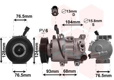 Kompressor, Klimaanlage VAN WEZEL 8300K242