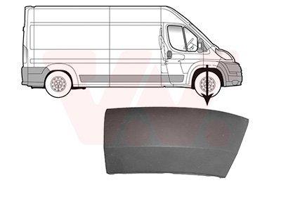 Verbreiterung Kotflügel für Karosserie Vorderachse VAN WEZEL 1651522