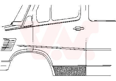 Tür Karosserie vorne links außen 3075171