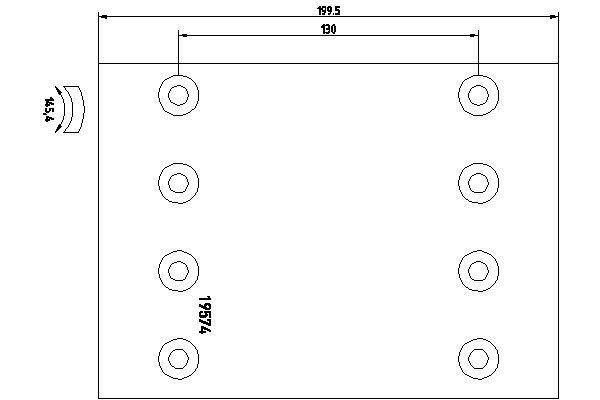 Bremsbelagsatz, Trommelbremse TEXTAR 1957422