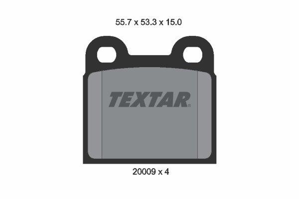 Bremsbelagsatz, Scheibenbremse TEXTAR 2000906 Bild 1