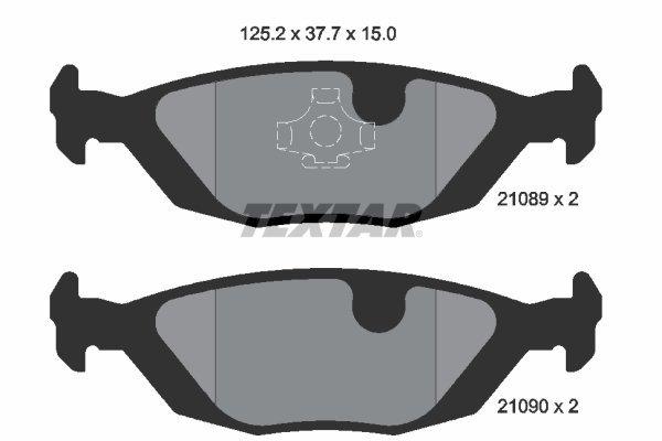 Bremsbelagsatz, Scheibenbremse TEXTAR 2108902