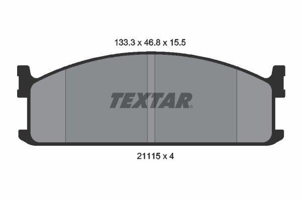 Bremsbelagsatz, Scheibenbremse TEXTAR 2111501