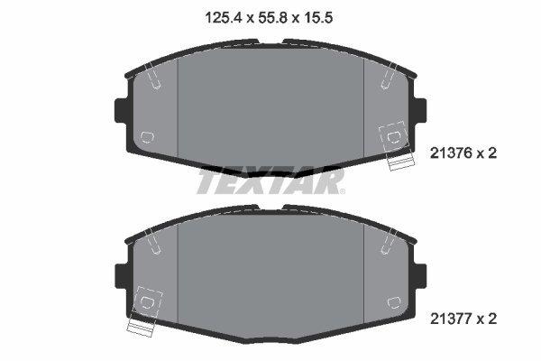 Bremsbelagsatz, Scheibenbremse TEXTAR 2137601