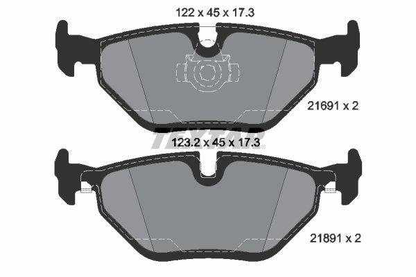 Bremsbelagsatz, Scheibenbremse TEXTAR 2169181
