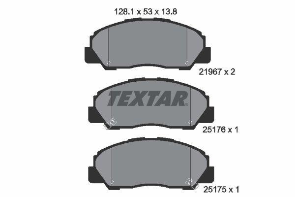 Bremsbelagsatz, Scheibenbremse TEXTAR 2196701 Bild 1