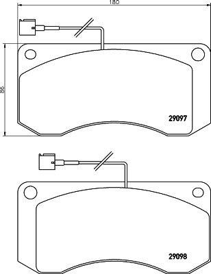 Bremsbelagsatz, Scheibenbremse TEXTAR 2909702