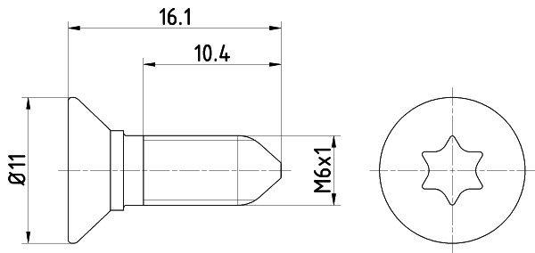 Schraube, Bremsscheibe TEXTAR TPM0008 Bild 1