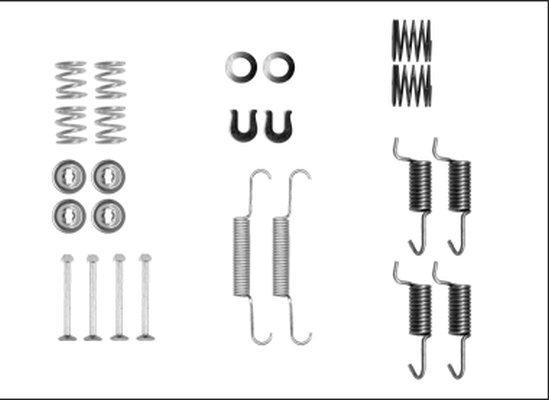 Zubehörsatz, Feststellbremsbacken TEXTAR 97042500