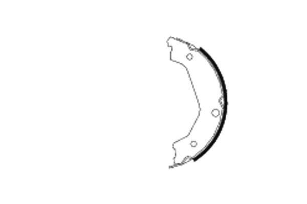 Bremsbackensatz, Feststellbremse TEXTAR 91065700