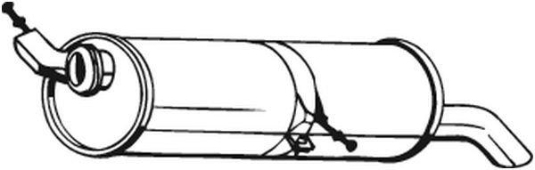 Endschalldämpfer BOSAL 190-153