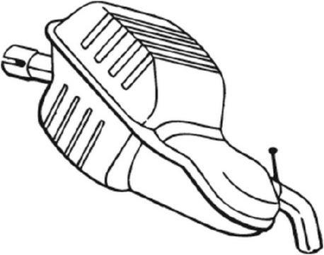 Endschalldämpfer BOSAL 235-141